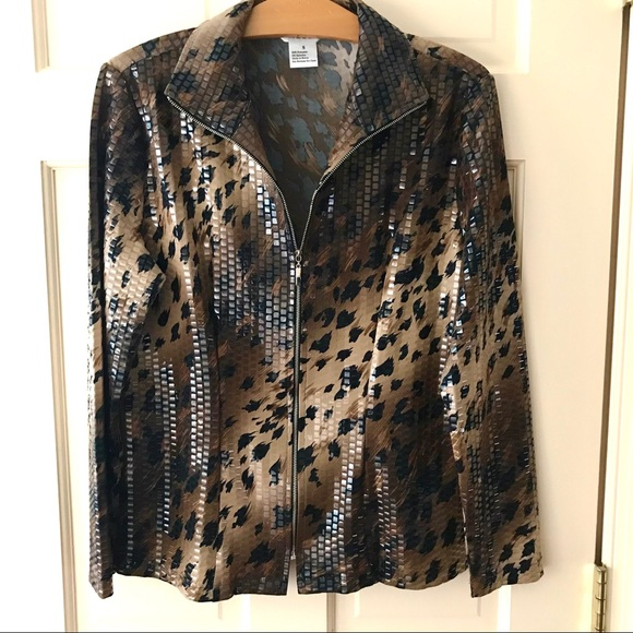 Misook Jackets Coats Final Sale Trendy Cheetah Print Blazer Jacket Poshmark